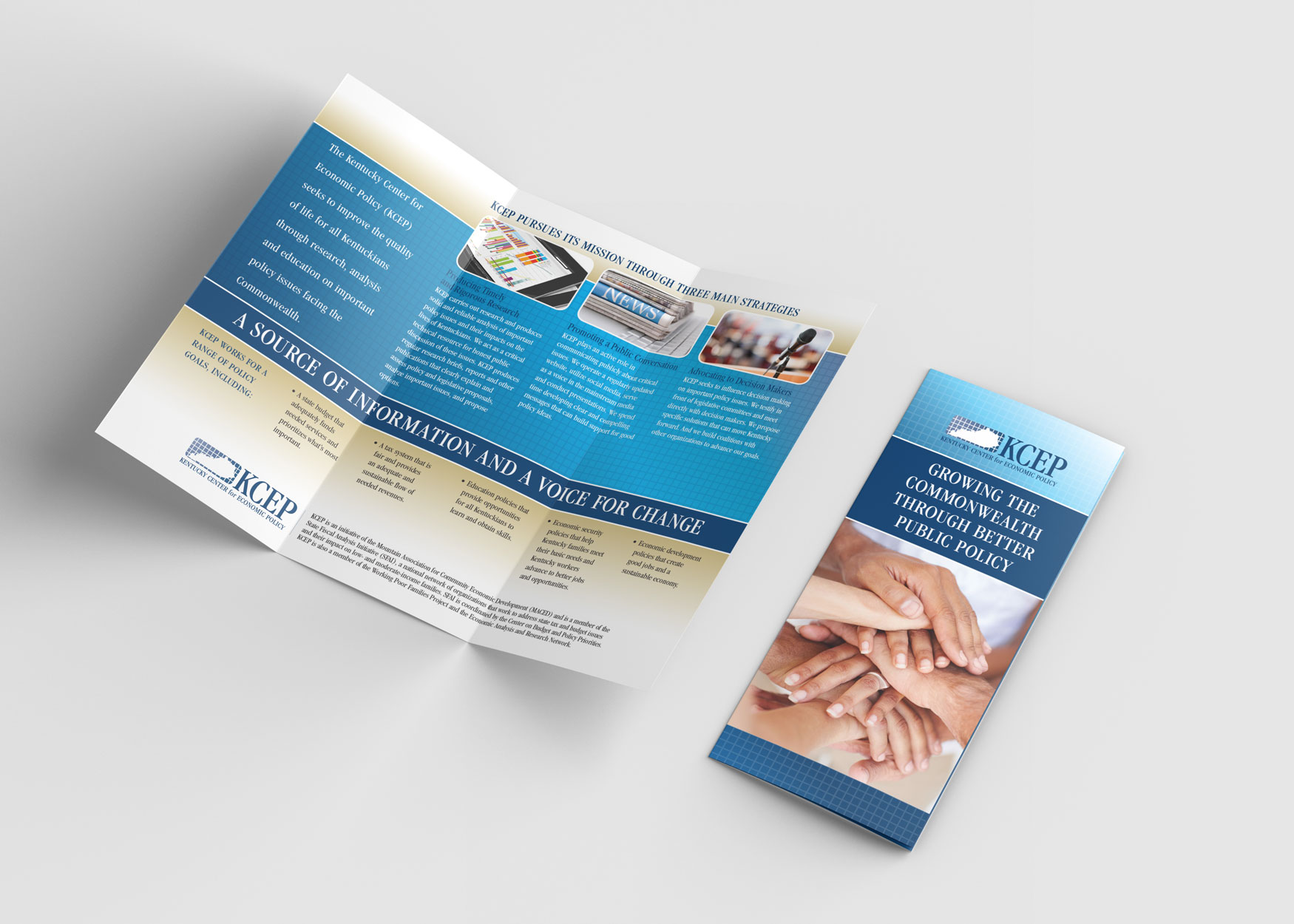 Trifold brochure for KCEP